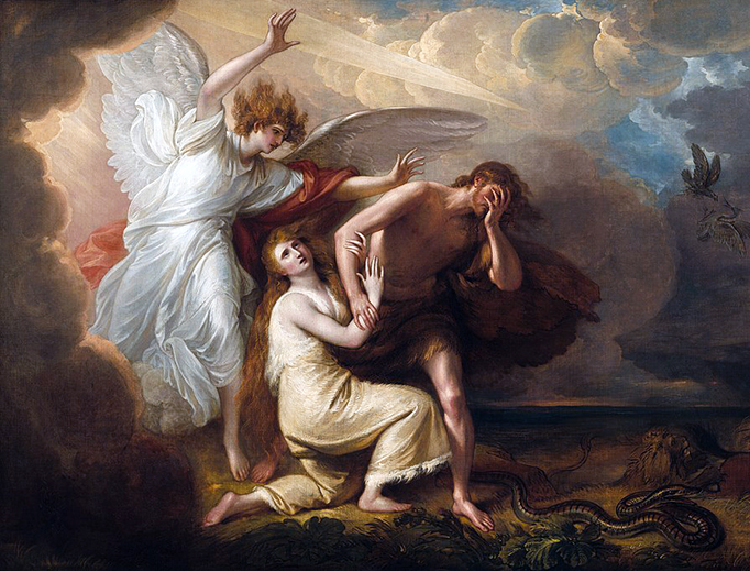 """Benjamin West, """"The Expulsion of Adam and Eve from Paradise,"""" 1791"""