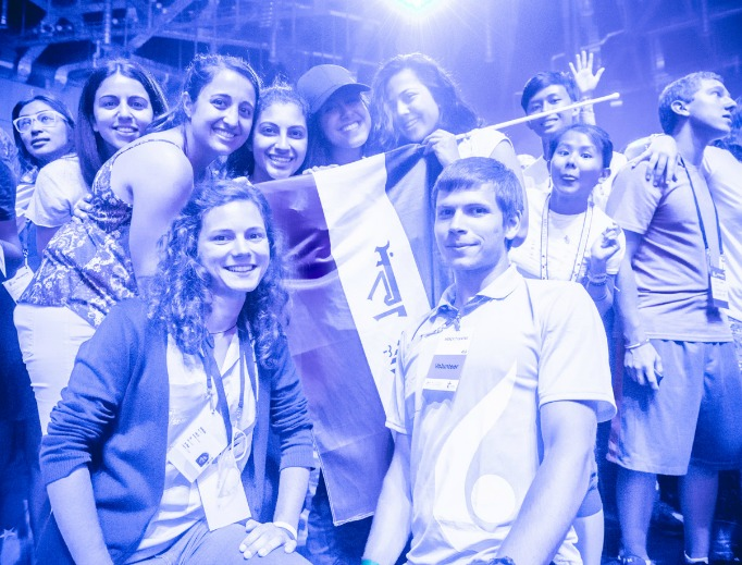 Young people at Night of Mercy event for English-speaking pilgrims during World Youth Day held in the Tauron Arena on July 27.