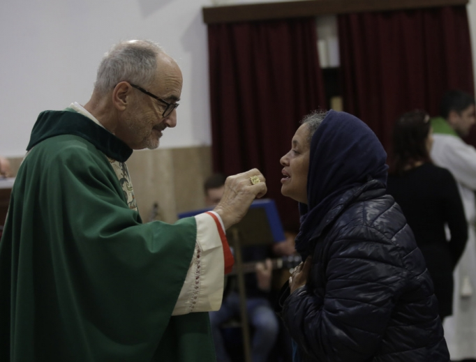 Cardinal Michael Czerny, Under-Secretary of the Migrants and Refugees Section of the Dicastery for Promoting Integral Human Development, took possession of his titular church of San Michele Arcangelo in Rome, Jan. 19, 2020.