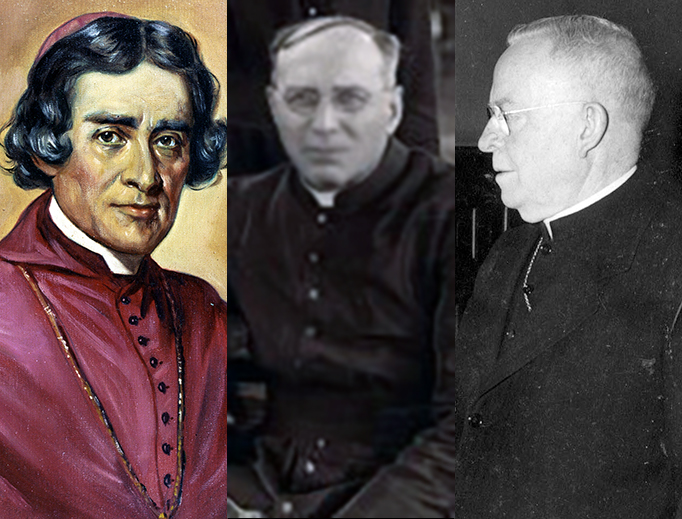 L to R: Ven. Frederic Baraga, Fr. Thomas Price, Archbishop John Noll