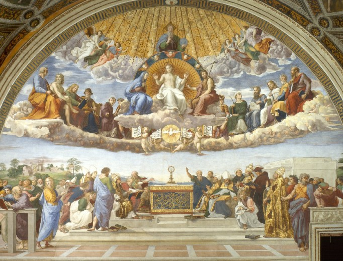 Disputation of the Holy Eucharist (Raphael, 1509–1510, Raphael Rooms, Vatican Museums, Vatican City)
