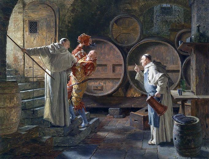 """Eduard von Grützner, """"Nach schwerer Sitzung,"""" 1892"""