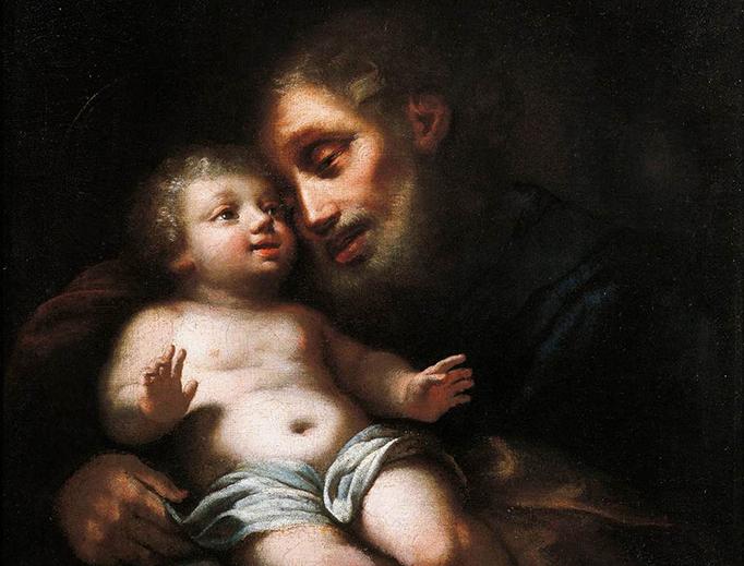 """Francesco Conti (1682–1760), """"St. Joseph with the Child"""""""