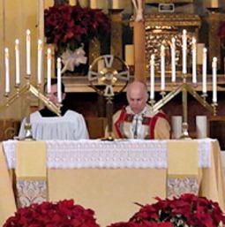 Archbishop Salvatore Cordileone celebrates vespers at St. Sebastian on Jan. 5.