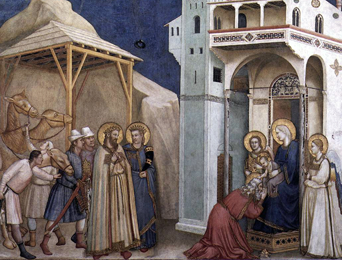 """Giotto di Bondone, """"The Adoration of the Magi"""", ca. 1315"""