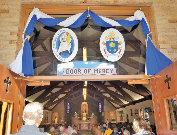 JUBILEE PILGRIMAGE. Sharon Hale passed through the holy doors for the Jubilee Year of Mercy at the National Shrine of Our Lady of Good Help in the Diocese of Green Bay, Wisconsin, among others.