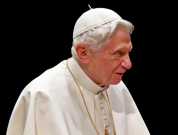 Pope emeritus Benedict XVI in 2013.
