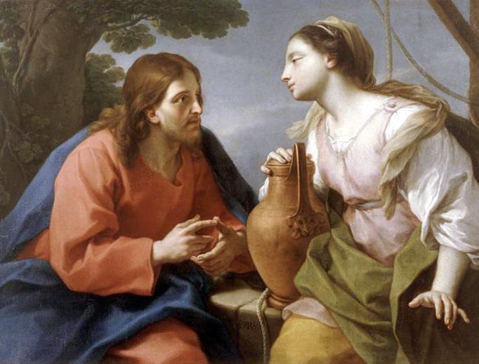 """Étienne Parrocel (1696-1775), """"Jesus and the Samaritan Woman"""""""