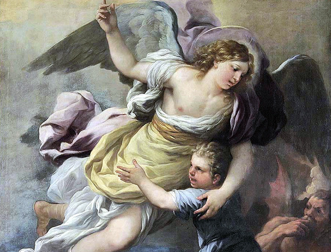 """Anonymous, """"Guardian Angel,"""" 18th century"""