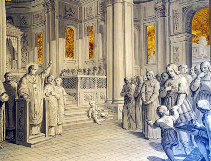 St. Chromatius preaches in the Basilica of Aquileia