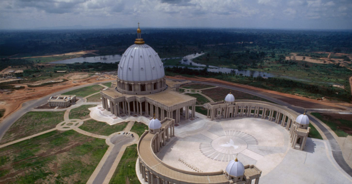 The Basilica of Our Lady of Peace in Yamoussoukro