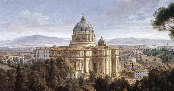 St. Peter's in Rome, Gaspar van Wittel [Public domain], via Wikimedia Commons.