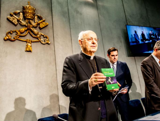 Cardinal Lorenzo Baldisseri, the general secretary of the Synod of Bishops, presents Christus Vivit (Christ Is Alive) April 2.