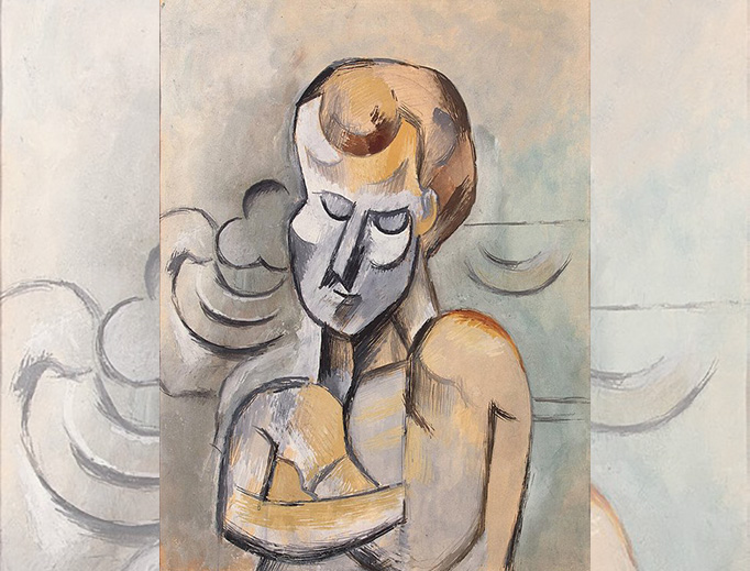 """Pablo Picasso, """"Man with Arms Crossed,"""" 1909"""