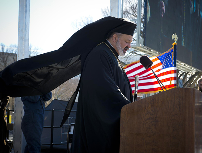 A speaker addresses the March for Life in Washington, Jan. 22, 2014.