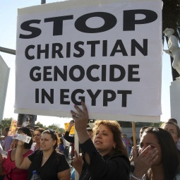 Coptic Christians in Los Angeles protested in October against the killings of people during clashes in Cairo between Christian protesters and military police, and what the demonstrators say is persecution of Christians.