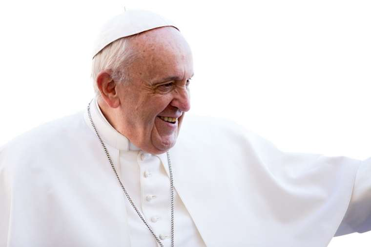 Pope Francis greets the faithful at the general audience March 14.