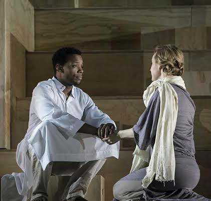 Wallace Smith as Jesus and Erin Davie as Mary Magdalene in Easter Mysteries.