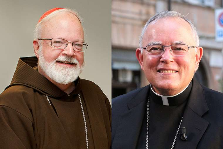 Cardinal Sean O'Malley and Archbishop Charles Chaput