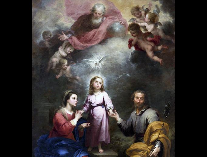 "Bartolomé Esteban Murillo, ""The Holy Family"", between 1675 and 1682"
