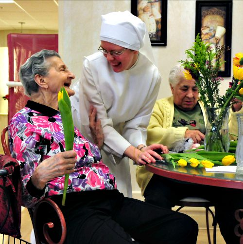 The Little Sisters of the Poor care for the elderly at the Mullen Home in Denver.