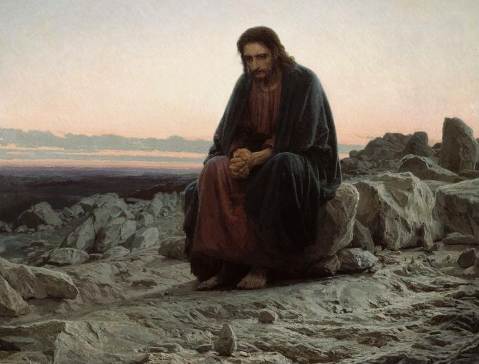 """""""Christ in the Desert"""" (Ivan Kramskoi, 1872)"""