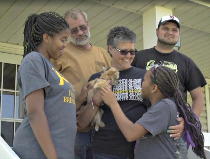 Cancer-survivor Cindy Schroeder and her family