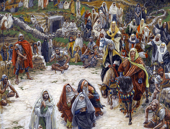 "James Tissot (1836-1902), ""What Our Lord Saw From the Cross"""