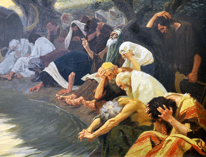 """Gebhard Fugel (1863-1939), """"By the Waters of Babylon"""""""