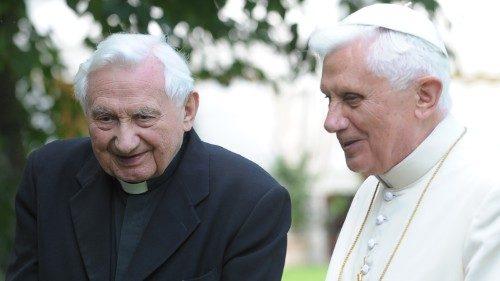 Msgr. Georg Ratzinger with Benedict XVI.