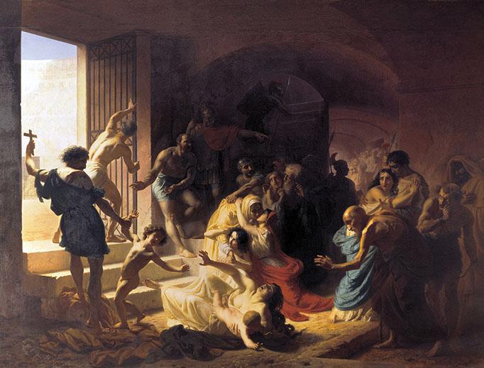 "Konstantin Flavitsky, ""Christian Martyrs in the Colosseum"" (1862)"