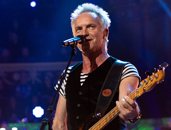 Sting performs in 2018