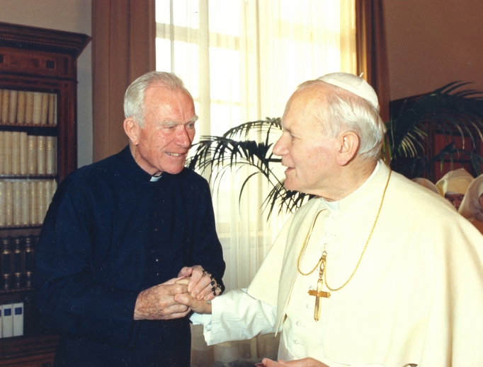 Father Patrick Peyton conversed with popes and movie stars, including Pope St. John Paul II, Loretta Young, Lucille Ball and Jack Benny, as well as ministered to the faithful around the globe.
