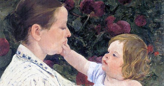 "Mary Cassatt (1884-1926), ""The Child's Caress"""