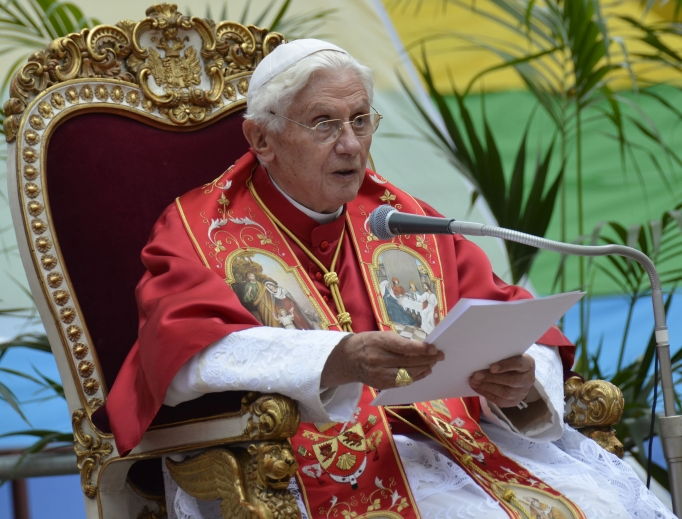 Pope Benedict addresses the World Meeting of Families 2012.