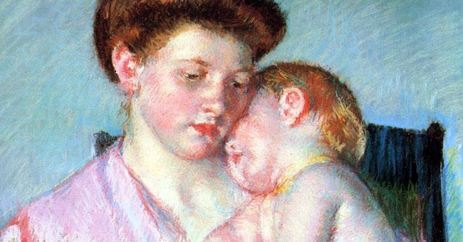 """Mary Cassatt (1844-1926), """"Sleepy Baby"""""""