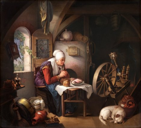"Gerrit Dou, ""Prayer of the Spinner"""