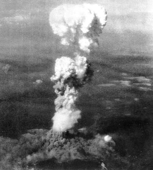 Smoke from the Aug. 6, 1945 atomic blast billowed 20,000 feet above Hiroshima, Japan.
