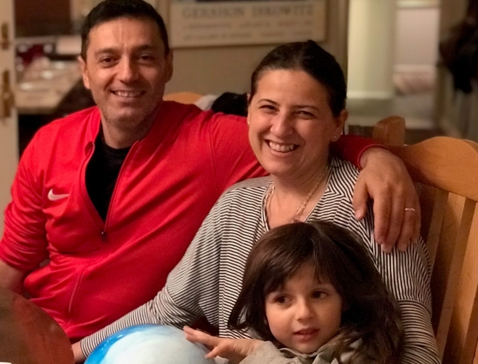 Luca di Tolve and his family