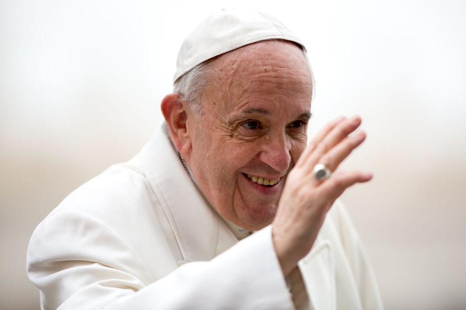 Pope Francis at his weekly general audience, April 4, 2018.
