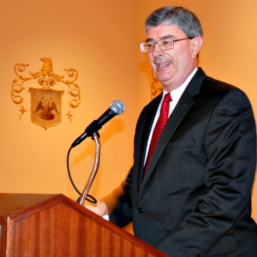 George Weigel delivers the 2015 William E. Simon lecture Feb. 4 at the Mayflower Hotel in Washington.