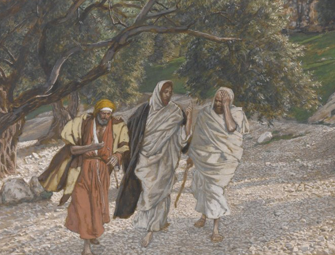 "James Tissot, ""The Pilgrims on the Road to Emmaus"" (c. 1890)"