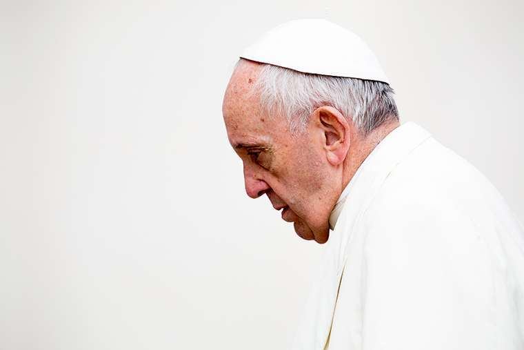 Pope Francis at general audience in St. Peter's Square on Jan. 31.