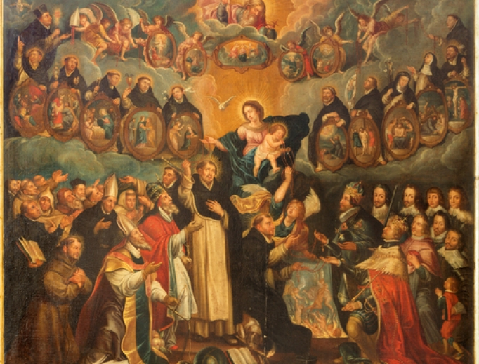 Madonna with the saints, 17th century by unknown painter in Saint Willibrordus church.