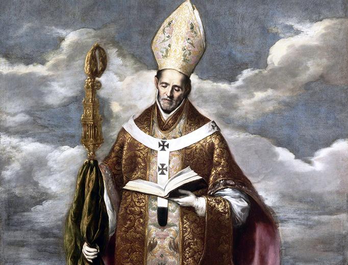 """El Greco (1541-1614), """"Saint Basil"""""""