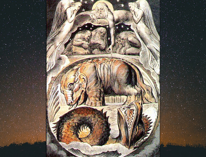 "William Blake (1757-1827), ""Behemoth and Leviathan"""