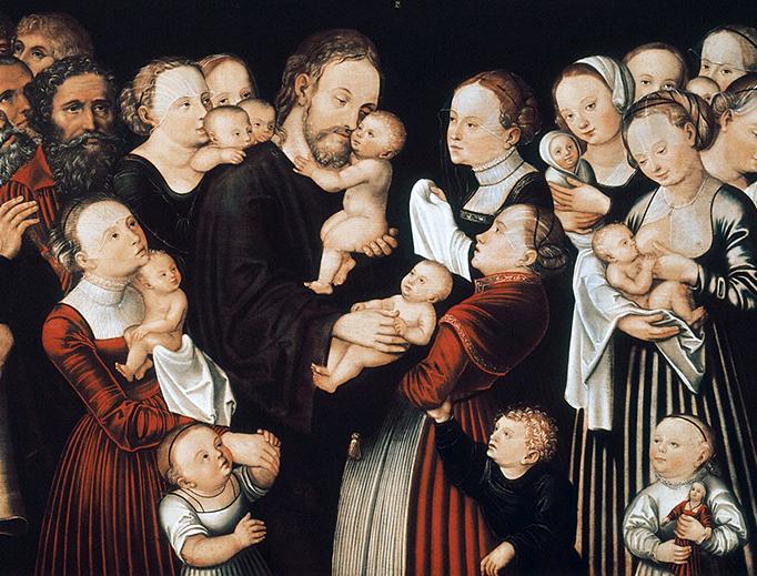 "Lucas Cranach the Elder (1472–1553), ""Christ Blessing the Children"""