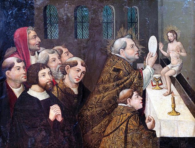 "Antonio Vázquez, ""The Mass of Saint Gregory the Great,"" c. 1540"