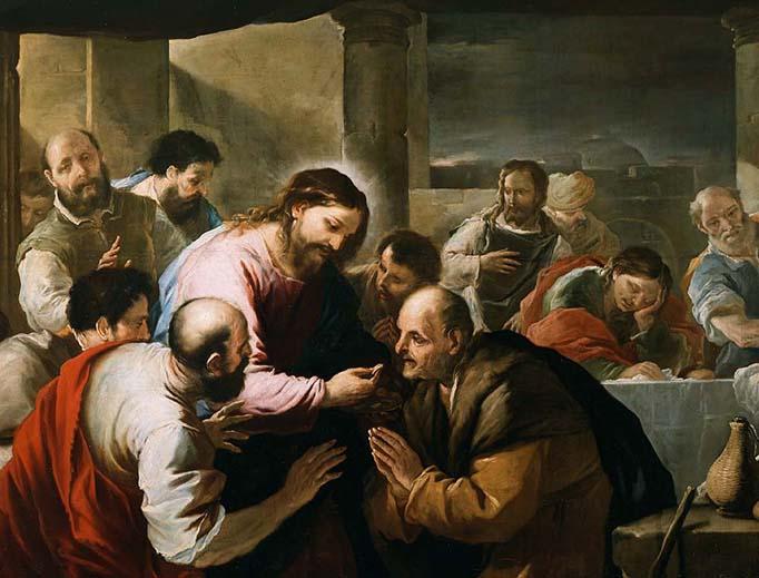 "Luca Giordano (1634-1705), ""The Communion of the Apostles"""