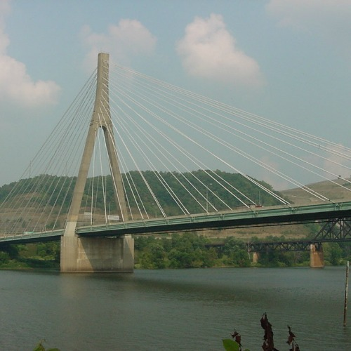 The Weirton-Steubenville bridge connecting West Virginia and Ohio